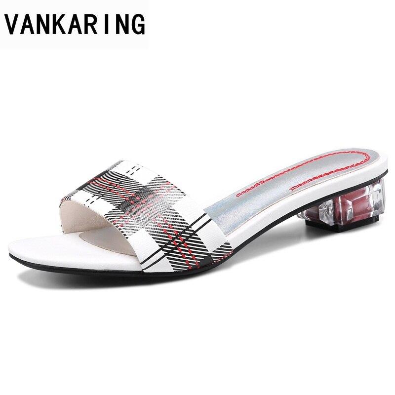 Sandales rouge Mode Chaussures En Robe Vankaring Grâce Cuir Pantoufle Bande D'été Moutons Parti 2019 Femmes Chaude Casual Newset Femme Date Bleu qRxwAR7S
