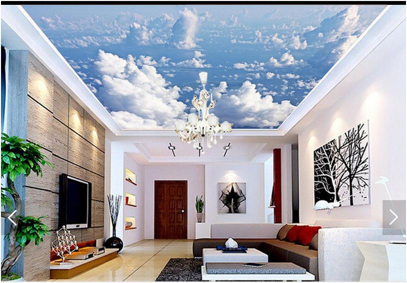 3d photo wallpaper 3d ceiling wall murals wallpaper Blue sky clouds star condole carries on the background 3d room wallpaper blue sky ceiling wallpaper murals modern 3d wallpaper for living room bedroom wisteria flower wallpaper brick ceiling wall