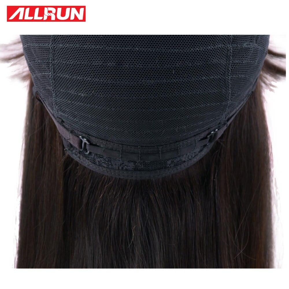 ALLRUN Non Remy Brazilian Straight Hair Wigs 100% Short Human Hair Wigs Side Part Bob Front Hair Wigs