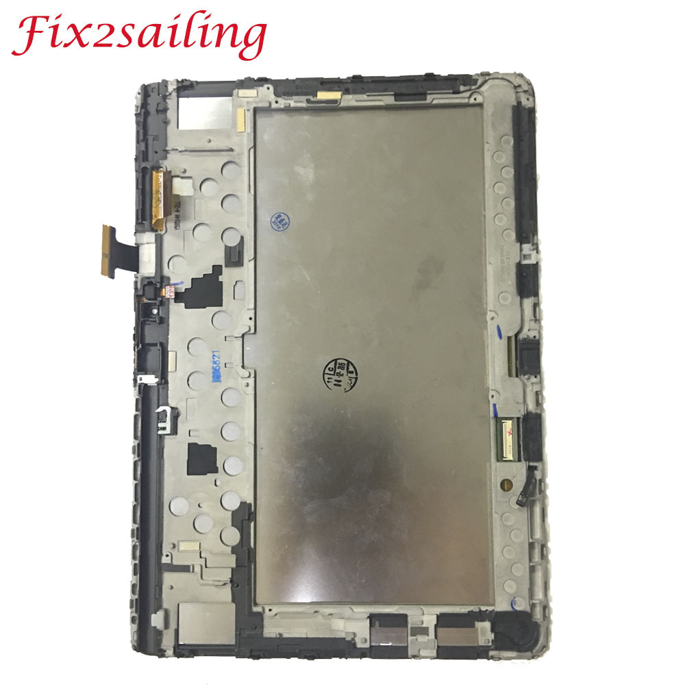 Super LCDS Screen For Samsung Galaxy Note 10.1 P600 P601 P605 LCD Display Touch Screen + Frame Digitizer Sensors Assembly