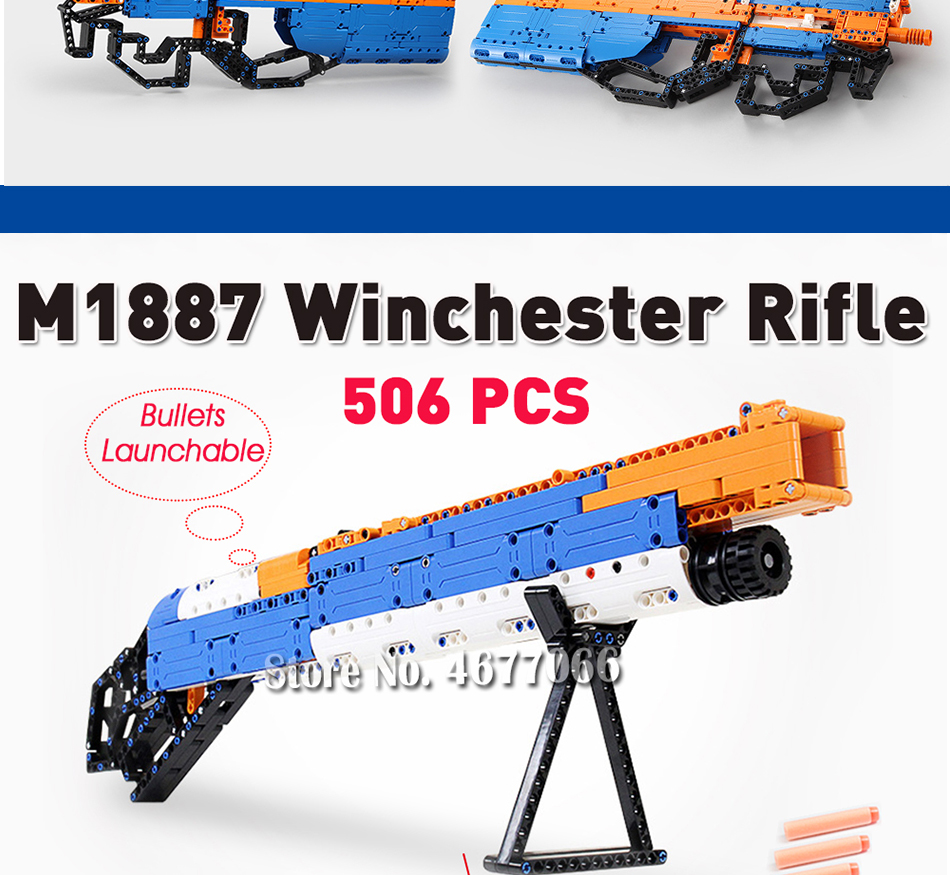 cada building blocks technic gun toy models & building toy gun model 98k bricks educational toys for children ww2 toys for kids 11