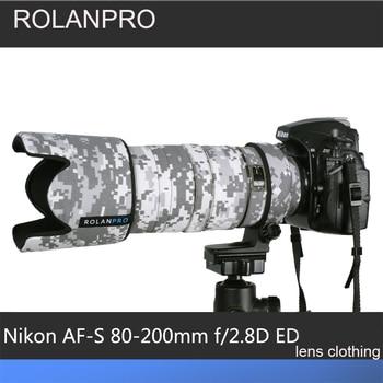ROLANPRO Lens Coat Camouflage Rain Cover for Nikkor Nikon AF 80-200 F/2.8D ED lens Protective Sleeve Guns Camera Nikon Bag