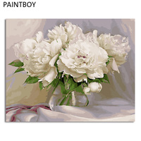 Paintboy Flower Frameless Picture DIY Painting By Numbers Acrylicl Painting On Canvas Home Decor For Living