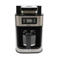 LSTACHi 1.2L электрическая кофемашина кофеварка Автоматическая кофемолка с горшком для офисвечерние вечеринки цифровой дисплей 220 В