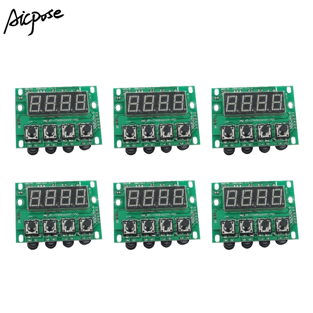6Pcs/lots 12-36V RGBW 4in1 4/8 Channel Constant Current Motherboard 54x3w 18x12w 24x12w 12x12w LED PAR Motherboard Voltage