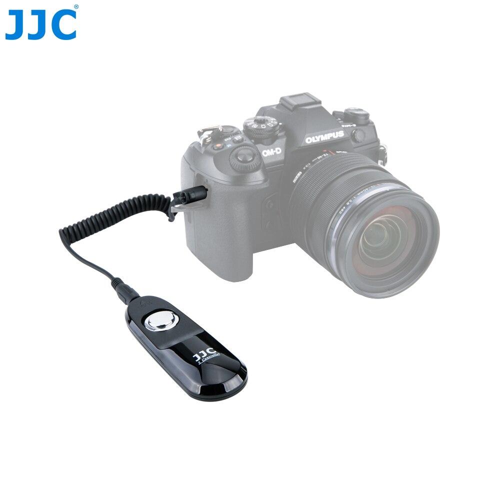 JJC Wired Controlador de Interruptor Remoto Obturador Da Câmera Cabo para OlympusOM-D E-M1 Mark II/OM-D E-M5 II /PEN F/XZ-1/SP-510 UZ