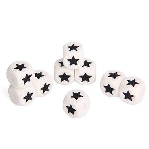 Image 4 - Chenkai 50 sztuk 12mm BPA bezpłatne luźne silikonowe gwiazda gryzak koraliki DIY dziecko serce żucia biżuteria gryzaki naszyjnik zabawka koraliki