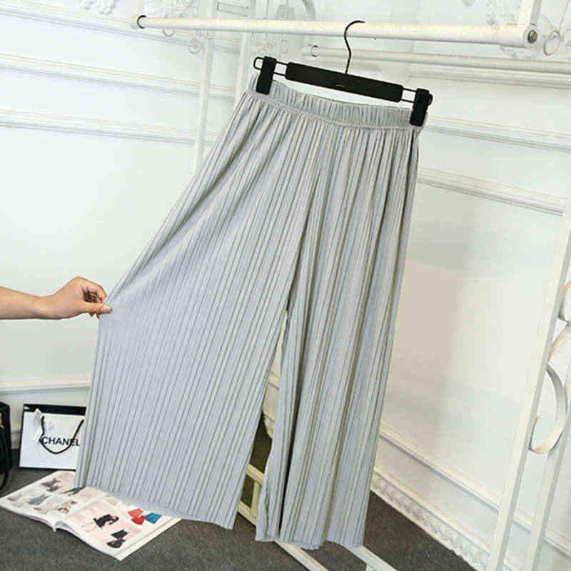 2019 الربيع الصيف مطوي الشيفون السراويل النساء بنطلونات فام رقيقة بنطال ذو قصة أرجل واسعة حجم كبير السراويل الشاطئ البوهيمي النساء C4209