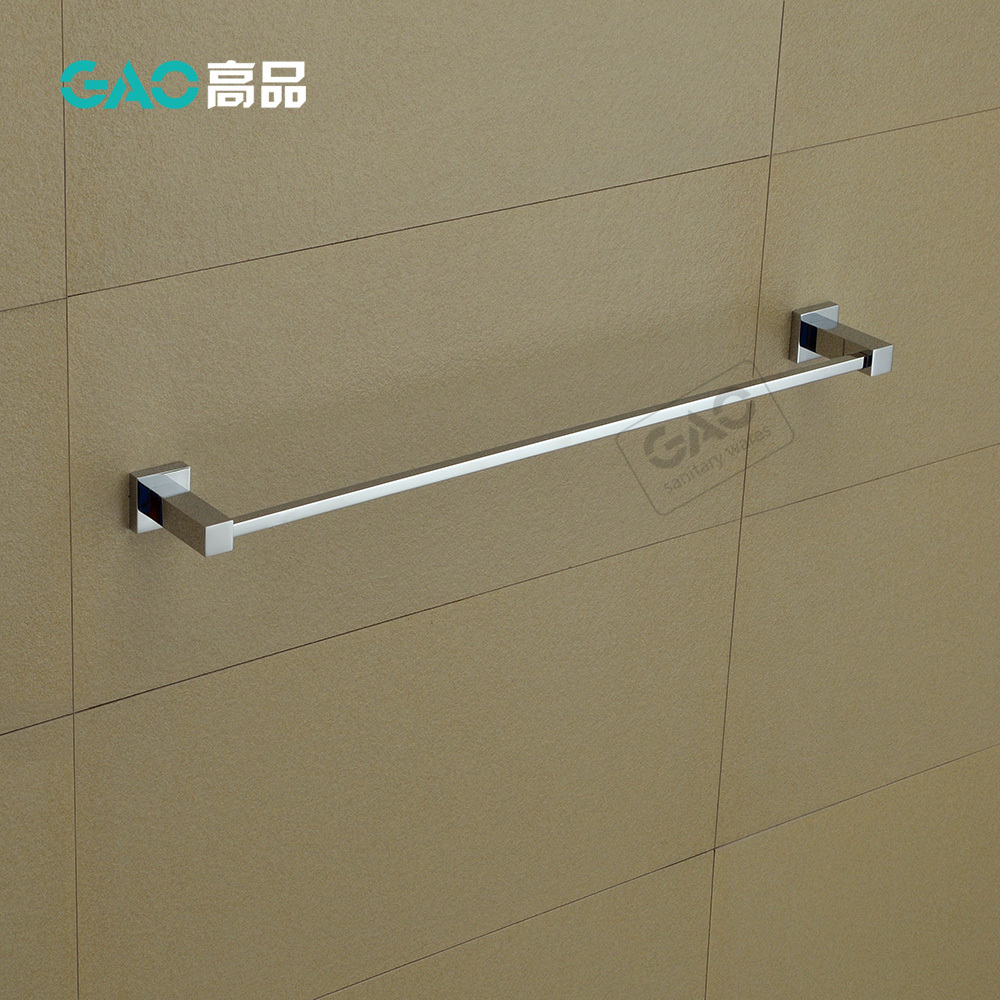 Free Shipping Single Towel Bar,Towel Holder,Solid Brass Made,Chrome Finish, Bathroom Accessories Square Towel Bar 60CM Length free shipping contemporary chrome finish stainless steel single towel bar 7804