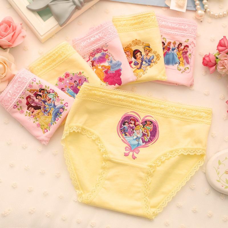 3pc/lot Princess Underwear 100% Cotton Baby Girls Underwear