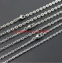 100pcs/lot 1.5/2/2.4/3.2mm Wide Wholesale In Bulk Silver Tone Stainless Steel Welding Strong Thin Cross Chain Men's DIY Necklace(China)