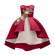 Summer Cute Kids DressesBaby Girl embroidery Silk Princess Dress for Wedding party Kids   Dresses for Toddler Girl Children Fash