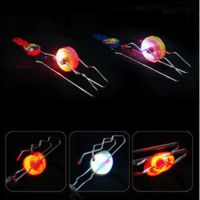 2018 new hot Yo Yo flash track light creative magic ball toy gyro