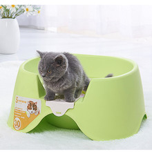 Pet Cat Bedpans Semi-closed Puppy Toilet Kitten Small Animal Double layer Basin Litter Box Cleaning Supplies Product