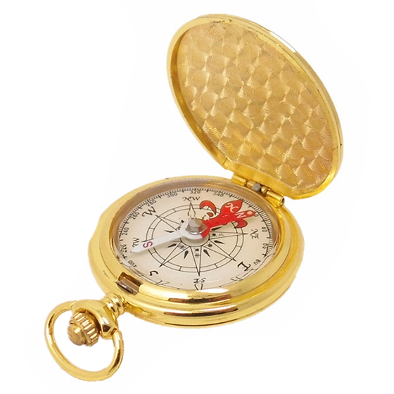 Pocket Compass Outdoor Compass Antique Hiking Hunting Camping Survival Compass Metal Compass Tool