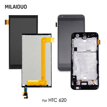 LCD Display For HTC Desire 620 620G D620 620U 620T Touch Screen Digitizer Sensor Glass Black No/with Frame Assembly Replacement original for htc desire 400 lcd display digitizer touch screen assembly with frame black free shipping