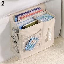 2016 Hot item! 6 Pockets Bedside Storage Mesh Mattress Book Remote Hanging Organizer Caddy Bag цена и фото