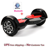 Hot Sale 8 Inch 2 Wheel Self Smart Balance Scooter Led Light Bluetooth Electric Skateboard Hoverboard