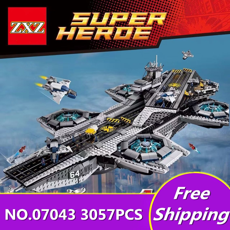 Lepin 07043 Super Heroes The Shield Helicarrier Model Building Kits Blocks Bricks Toys Compatible 76042 legone Building Kits