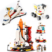 1214pcs DIY Creator spaceport space shuttle airplane moonbuggy Building brick Block models Kids educational Toys gifts