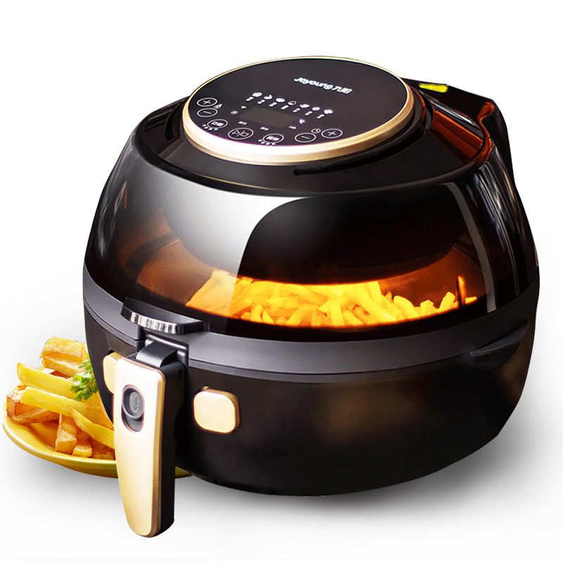 22%,3C APP Remote Control Oil-free Air Fryer Timing Electric Deep Fryers Smart Rotation Flip Visual Sunroof 3D Heating 5L 1200W
