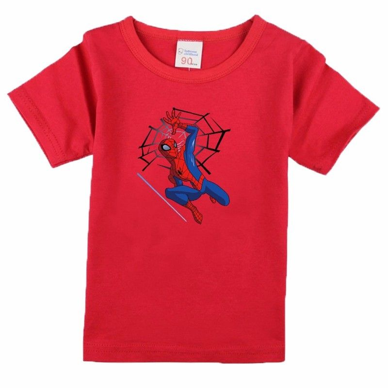 Cartoon Printing spider man short Sleeve T Shirts Fashion Cotton Children Baby Boys T Shirts Child