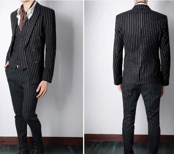 Compare Prices on Black Suit with White Stripe- Online Shopping ...