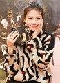 Novo Yuan Shanshan estrela Gao Yuanyuan com preguiçoso camisola de lã solta o-pescoço Camisola de malha Menina tops pullovers casaco para fora o desgaste outfit