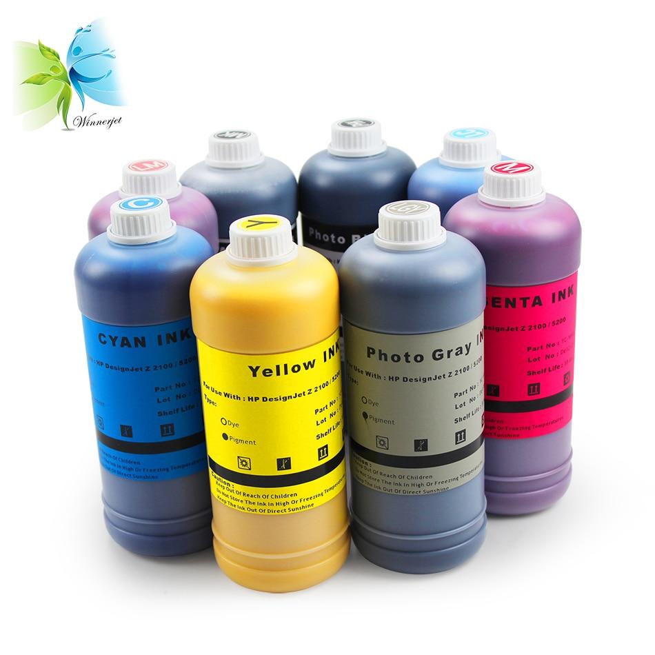 Winnerjet for HP 70 ink cartridge For HP designjet z2100 z5200 printer Refill Pigment ink printing Fluency light Fastness pigment ink pigment ink refillprinting ink - title=