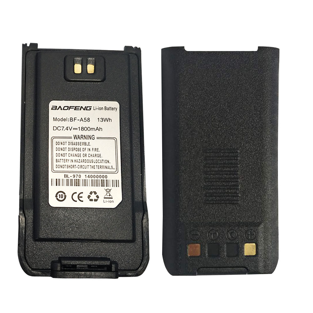 Original Baofeng A58 Battery 7.4v 1800mah Li-ion Battery For BF A58 Two Way Radio