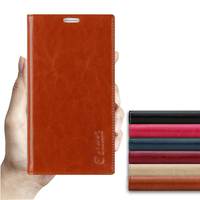 Sucker Cover Case For Microsoft Nokia Lumia 535 N535 High Quality Luxury Genuine Leather Flip Stand