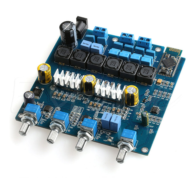 Placa de Amplificador Classe D TPA3116 Bluetooth 2.1 Amplificador Board 100 W + 2*50 W