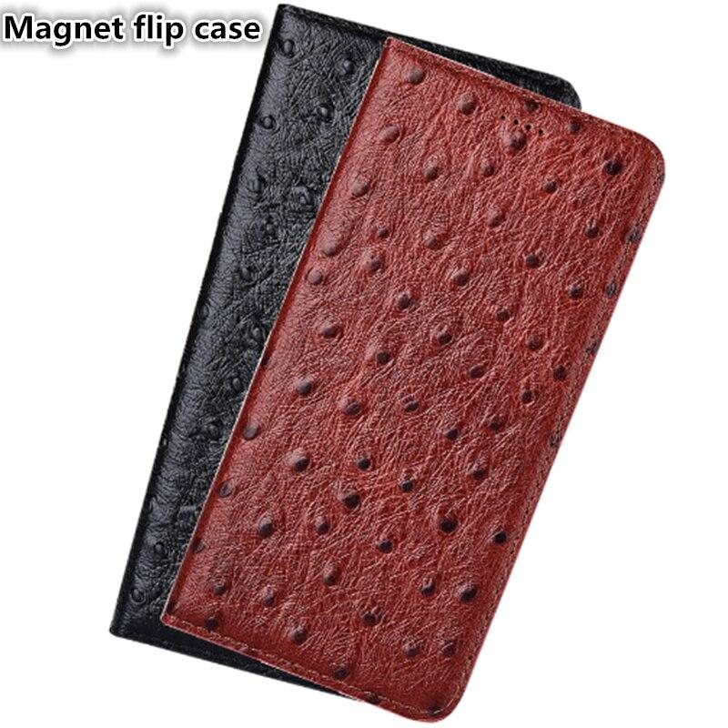 SS13 Страус шаблон Натуральная кожа Магнит чехол для телефона для sony Xperia XA2 Ultra (6,0 ') чехол для sony Xperia XA2 ультра телефон сумка