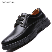 2019 new mens dress shoes leather classic black & brown office shoe man youth wedding party work elegant formal for men