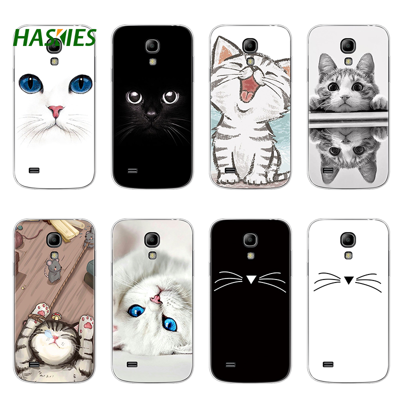 Cartoon Cat Soft TPU Case For Coque Samsung Galaxy S4 Mini Case Silicone For Samsung Galaxy S4 Mini S 4 Mini Cases Back Cover image