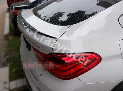 X4 F26 Carbon Fiber M Style Trunk Boot Lip Spoiler For BMW F26 X4 2014-2015 3 series carbon fiber rear lip spoiler diffuser for bmw f34 gt m sport 4 door only 14 17 single exhaust two out grey frp