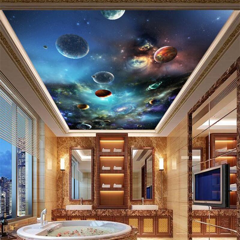 Beibehang Space Star Solar Planet 3D Ceiling Zenith Mural
