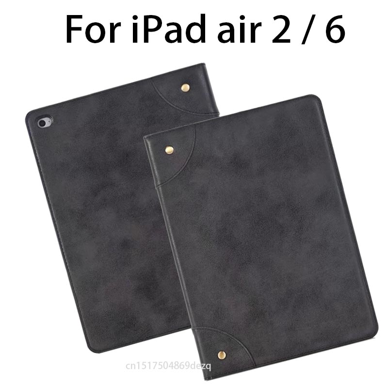 Luxury PU leather table for ipad air 2 Ultra Slim Stand Protective Case For iPad 6 2017 new smart cover case for apple ipad air 2 pu leather case luxury silk pattern stand smart cover