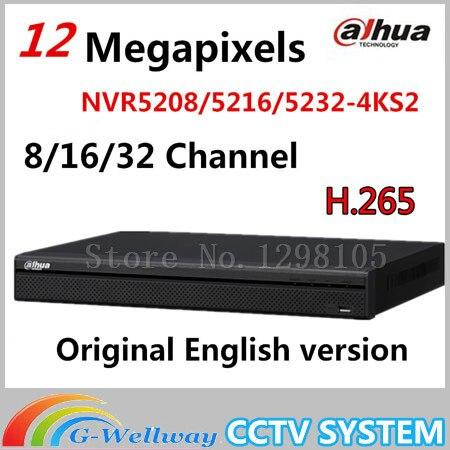 DaHua 4 K Video Sorveglianza NVR NVR5208-4KS2 NVR5216-4KS2 NVR5232-4KS2 8/16/32 Channels H.265