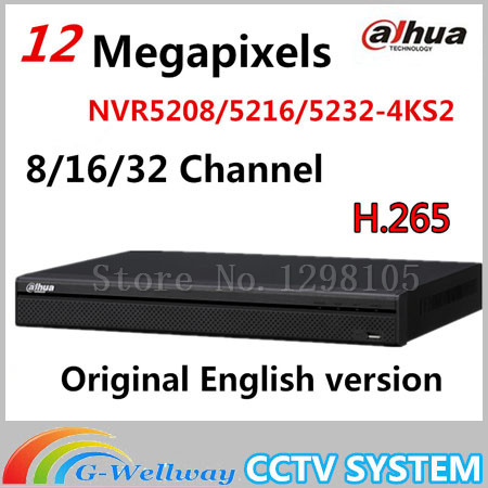 DaHua 4K Video Surveillance NVR NVR5208-4KS2 NVR5216-4KS2 NVR5232-4KS2 8/16/32 Channels H.265