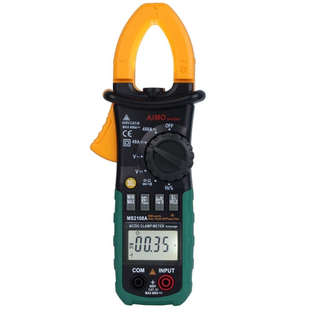 Newest Digital Multimeter Amper Clamp Meter MS2108A Current Clamp Pincers AC/DC Current Voltage Capacitor Resistance Tester