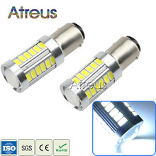 Atreus 2pcs Car LED Lamps 1157 BA15S 7506 P21W 33 smd 5630 5730 led Car Tail Bulb Turn Signals Brake Lamp Daytime Running Light(China)