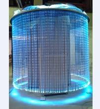 Блеск сенсорными сторона свечение волоконно-оптический кабель 1,0 мм * 1500 м/roll для сенсорных украшения комнаты и люстра, водопад занавес