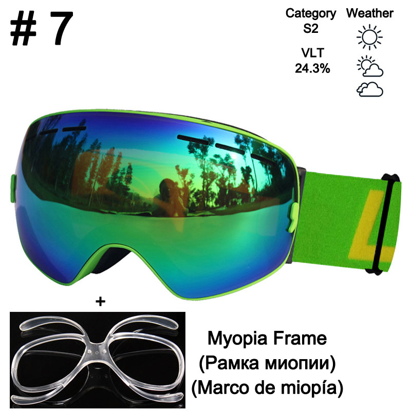 511efba08bd Dropwow Ski Goggles UV400 Anti-fog Ski Glasses Double Lens Skiing ...