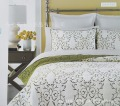 natural style Pure cotton embroidery 3pcs 1* bedspread 2 *pillowcases Plant series