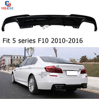 5 Series F10 Rear Bumper Lip Diffuser for BMW F10 MP Style Sports Sedan 2010 2016 ABS 4 out let Diffuser