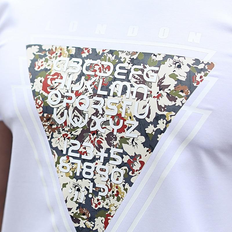 NIGRITY mens t shirt New Casual short sleeve o-neck Inverted triangle printed modal t-shirt men brand tee shirt big size M-4XL 67