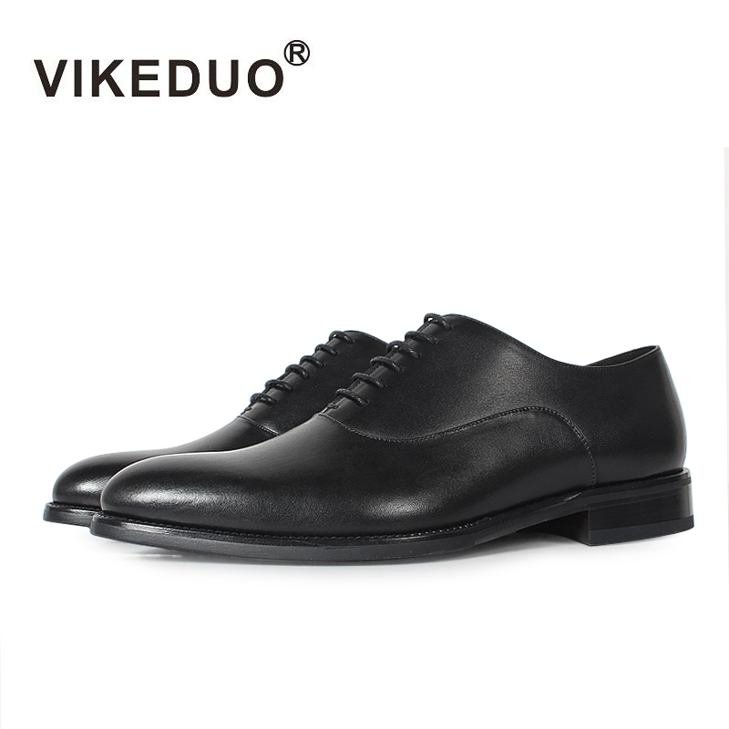 VIKEDUO Brand Classic Luxury Cow Leather Black Man's Shoes Royal Party Wedding Dress Summer Oxford Shoes For Gentleman Men 2017 luxury brand men s business dress shoes genuine leather oxford shoes black brown classic gentleman shoes fashion flats sapato 2a
