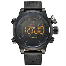 Top luxury weide brand men's sports watch multi-function alarm LED watch 3ATM waterproof quartz Wristwatches relogio masculino