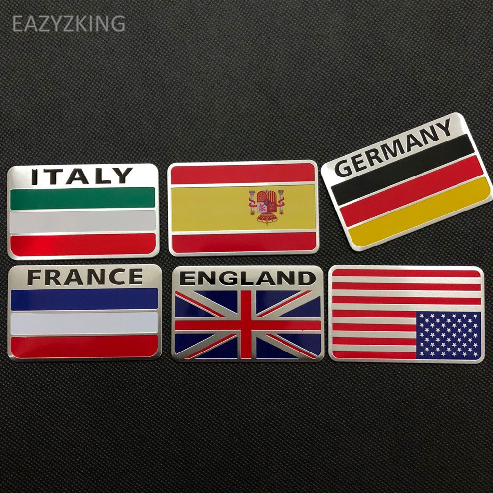 EAZYZKING Car-Styling National Flag Stickers for Toyota Camry Corolla RAV4 Yaris Highlander Land Cruiser PRADO Vios Vitz Reiz